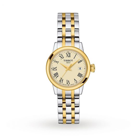T-Classic Dream Steel and Yellow Gold 28mm Quartz Watch
