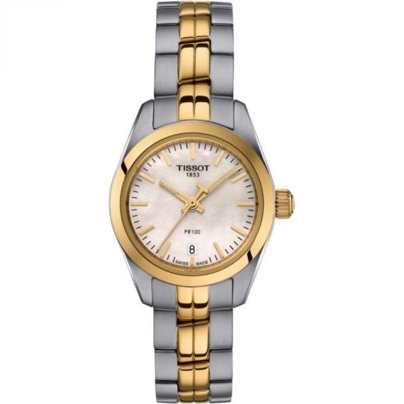 T-Classic PR 100 Steel and Yellow Gold PVD 25mm Quartz Watch