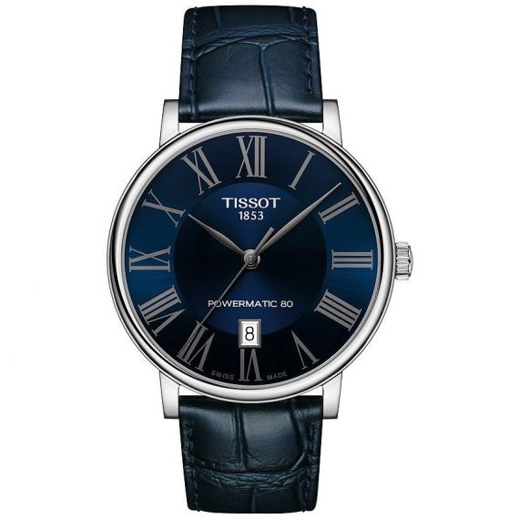 T-Classic Carson Powermatic 80 Steel 40mm Automatic Strap Watch