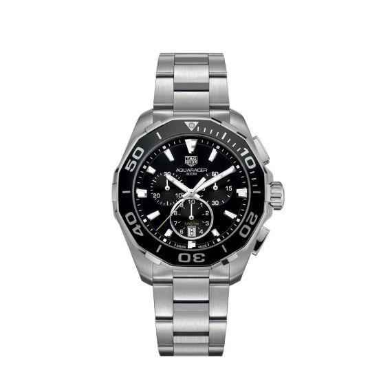 Aquaracer 43mm Quartz Chronograph Watch