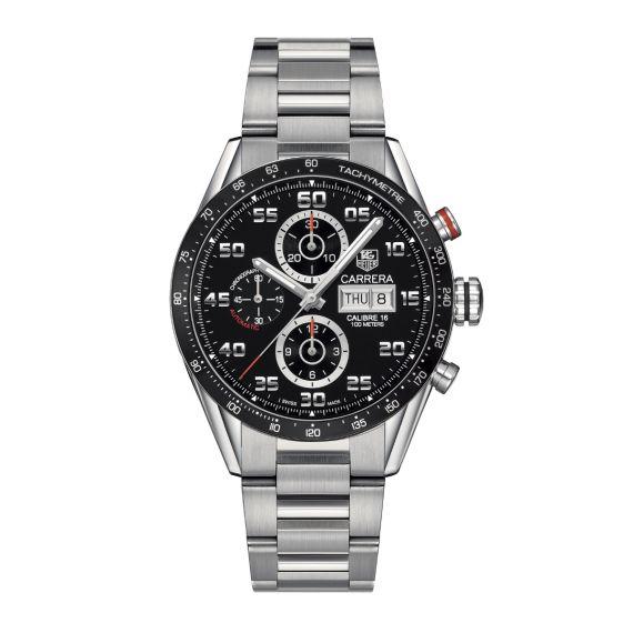 Carrera 43mm Automatic Chronograph Watch