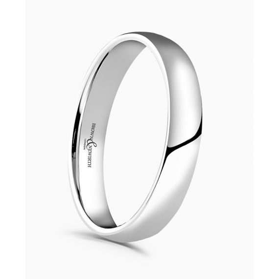18ct White Gold 3mm Wedding Ring