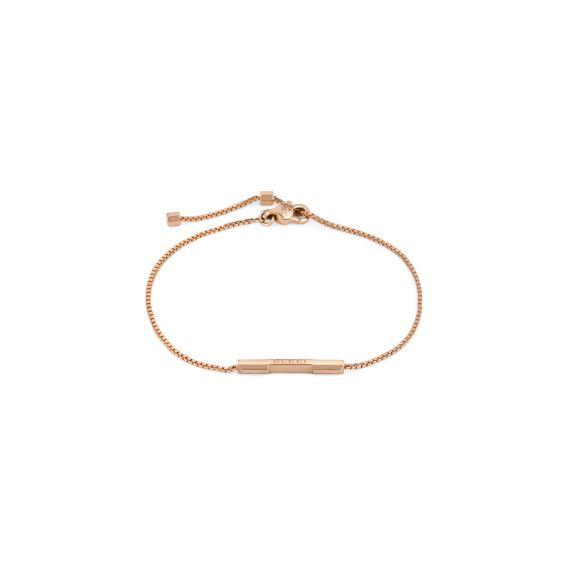 Link To Love 18ct Rose Gold Bracelet - Size 16