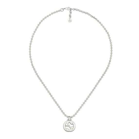 Interlocking G Silver Necklace - 45cm