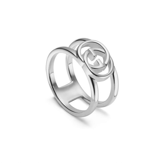Interlocking G Silver 9mm Ring - Size 14