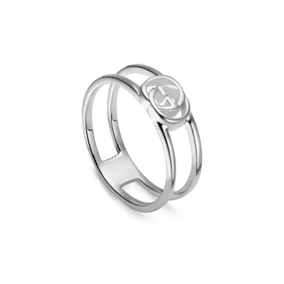Interlocking G Silver 6mm Ring - Size 13