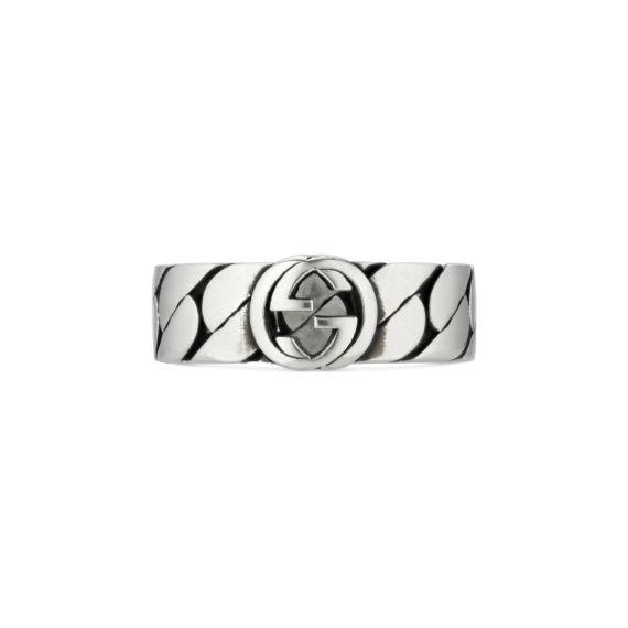 Interlocking G 'Gourmette' Ring - Size 19