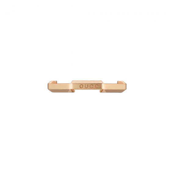 Link To Love 18ct Rose Gold Ring - Size 12