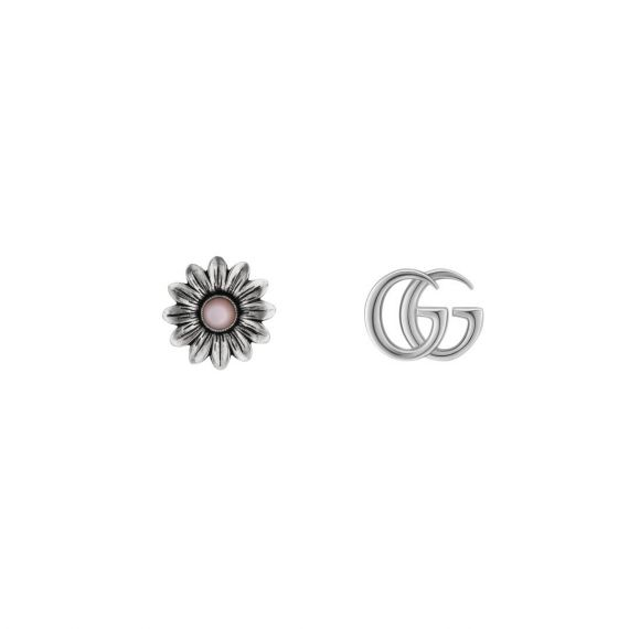 Marmont Pink Mother of Pearl Flower GG Earrings